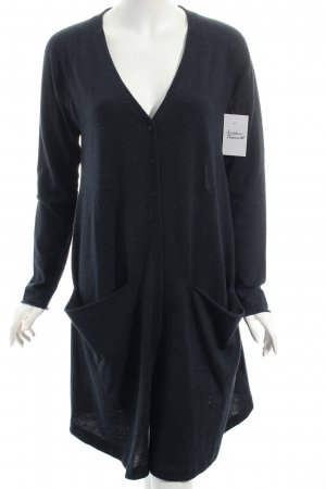 COS Strickmantel dunkelblau klassischer Stil