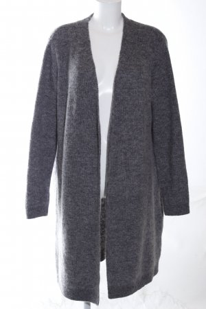 COS Knitted Coat light grey flecked casual look