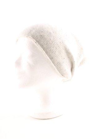 COS Cappello a maglia crema-grigio chiaro puntinato stile casual