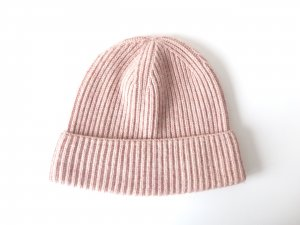 COS Knitted Hat multicolored wool