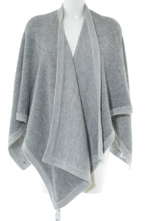 COS Knitted Poncho light grey flecked casual look