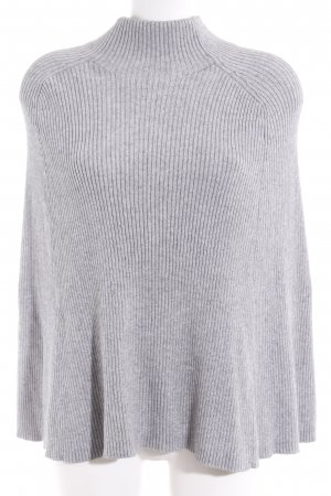 COS Knitted Poncho light grey mixture fibre