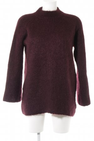 COS Strickpullover bordeauxrot Casual-Look