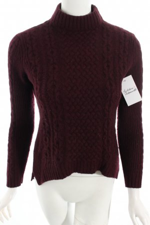 COS Strickpullover bordeauxrot Mustermix Casual-Look