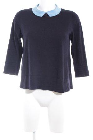 COS Strickpullover dunkelblau-himmelblau Casual-Look