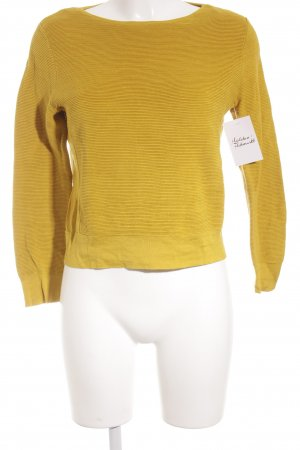 COS Strickpullover dunkelgelb Casual-Look