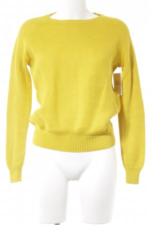 COS Strickpullover gelb Casual-Look