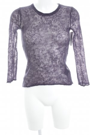 COS Strickpullover grauviolett Business-Look