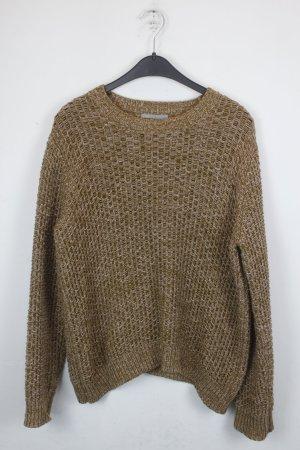 COS Strickpullover Pullover Gr. L braun meliert (18/9/081)