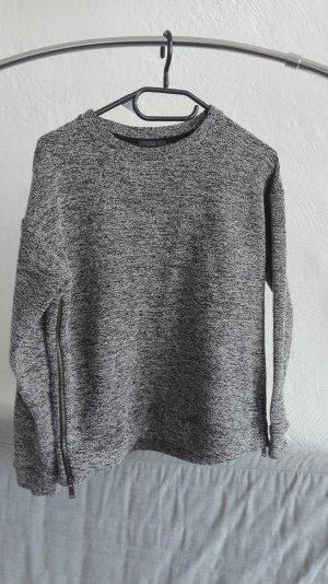 COS Strickpullover Pullover schwarz S 36 meliert Winter weiß