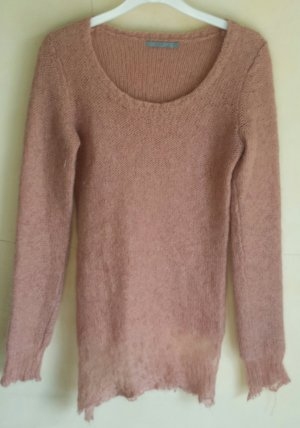 COS Cardigan en maille fine rose chair mohair
