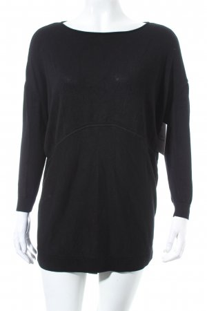 COS Strickpullover schwarz Casual-Look