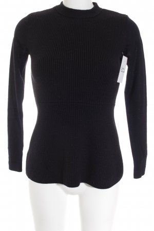 COS Knitted Sweater black minimalist style