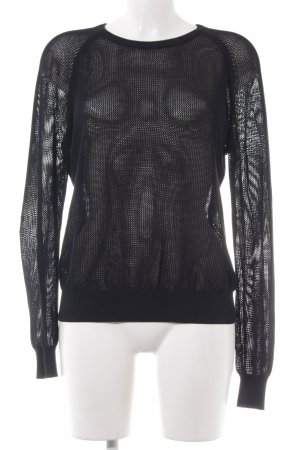COS Knitted Sweater black transparent look