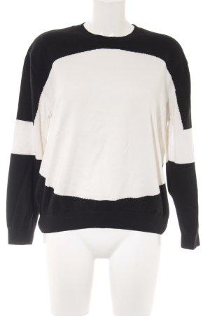 COS Strickpullover schwarz-weiß Casual-Look
