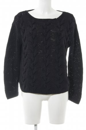 COS Knitted Sweater black cable stitch casual look