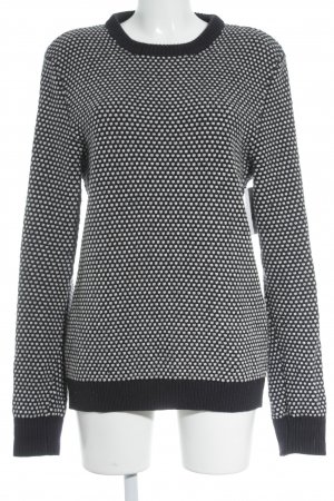 COS Knitted Sweater white-dark blue spot pattern classic style