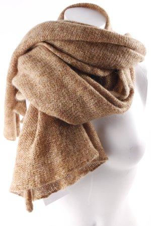 COS Écharpe en tricot brun moucheté style classique