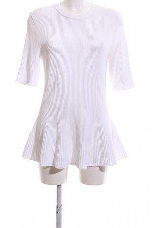 COS Knitted Jumper white striped pattern casual look