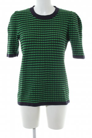 COS Strickshirt grün-schwarz Casual-Look