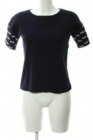 COS Camisa tejida azul oscuro-rosa claro