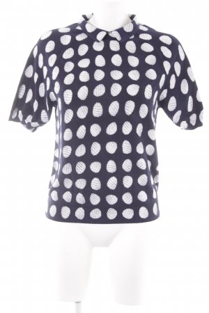 COS Knitted Jumper dark blue-white spot pattern simple style
