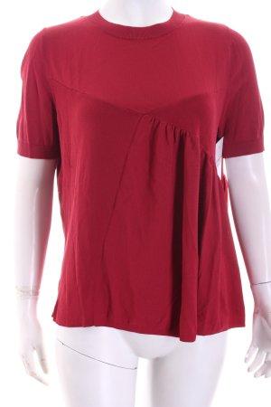 COS Strickshirt dunkelrot klassischer Stil