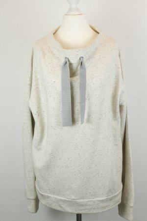 COS Sweatshirt wit-zwart Katoen