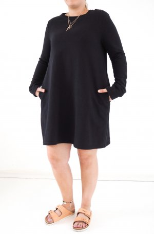 COS Sweatshirt Kleid dunkelblau M 38 40 Sweater Dress Shirtkleid Basic Minimal Style lässig