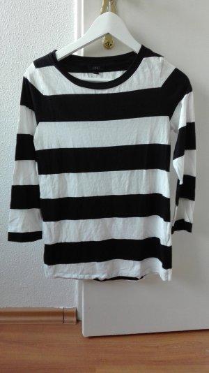 COS Sweatshirt locker oversize XS 34 schwarz weiß gestreift