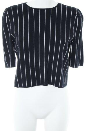 COS Sweatshirt wit-donkerblauw gestreept patroon casual uitstraling
