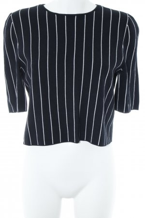 COS Sweatshirt weiß-dunkelblau Streifenmuster Casual-Look