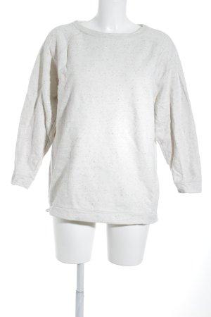COS Sweatshirt wollweiß Punktemuster Casual-Look