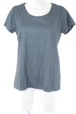 COS T-shirt bleu moucheté style décontracté