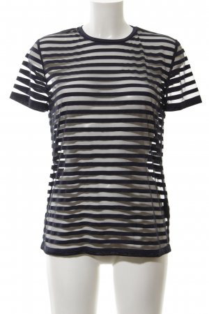 COS T-shirt noir motif rayé style décontracté