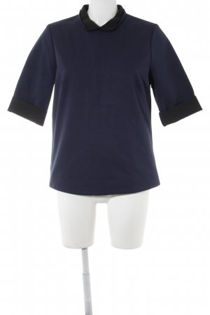 COS T-Shirt dunkelblau-schwarz Casual-Look