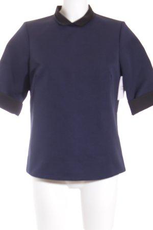 COS T-Shirt dunkelblau-schwarz Neopren-Optik