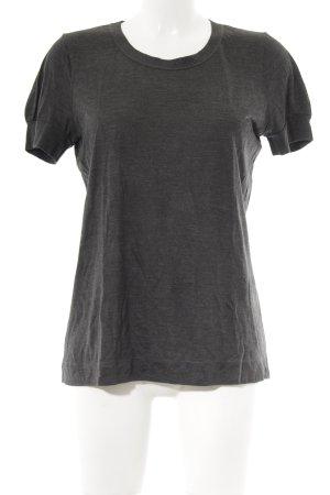 COS T-Shirt dunkelgrau-silberfarben meliert klassischer Stil