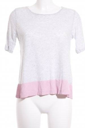COS T-Shirt hellgrau-rosa Casual-Look