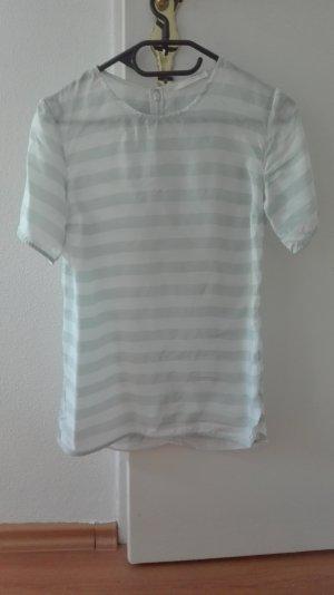 COS T-Shirt Tunika Seide gestreift XS 34