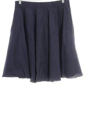 COS Falda circular azul oscuro look casual