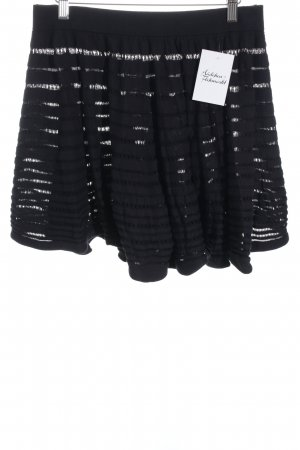 COS Circle Skirt black loosely knitted pattern romantic style