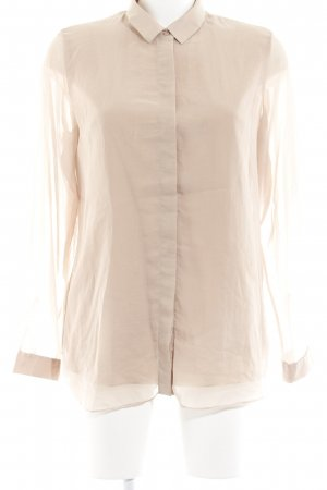 COS Transparenz-Bluse nude Business-Look