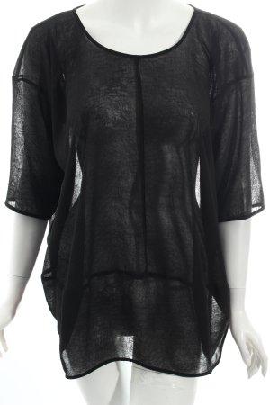COS Transparenz-Bluse schwarz klassischer Stil