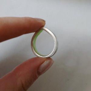 COS Zilveren ring lichtgrijs-zilver