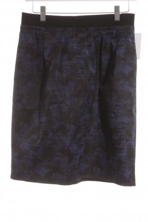 COS Tulip Skirt black-dark blue abstract pattern street-fashion look