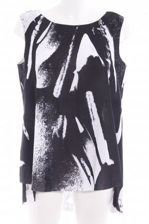COS Tunika schwarz-weiß abstraktes Muster Casual-Look