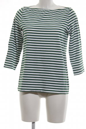 COS Boatneck Shirt green-white striped pattern casual look