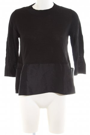 COS Boothalsshirt zwart zakelijke stijl