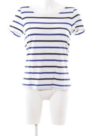 COS Boothalsshirt wit-blauw gestreept patroon casual uitstraling